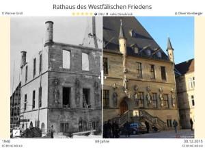Rathaus des Westfälischen Friedens 1946/2015 (Museum Industriekultur/Universität Osnabrück CC BY-NC-ND 4.0)